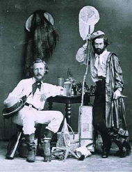 Haeckel et MacClay aux îles Canaries, 1866 - source : http://commons.wikimedia.org/wiki/File:Ernst_Haeckel_and_von_Miclucho-Maclay_1866.jpg